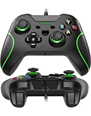 Xbox One Game Controller con LED Light,Wired Gamepad Controller per Windows 7/8/10, XBOX ONE, PC, TV Box Joystick Android Joypad con design ergonomico con Dual Vibration Shock