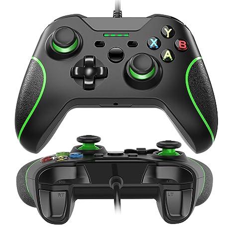 USB Wired Xbox One Controller Joysticks Gamepad Ergonomisches Design Schock Vibration für Xbox One PC Microsoft Windows Schwa
