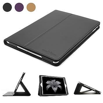 Estuche para iPad 2 iPad 3 iPad 4, Estuche de cuero genuino Boriyuan Estuche de folio con función de reposo / despertador automático para iPad 2/3/4, ...