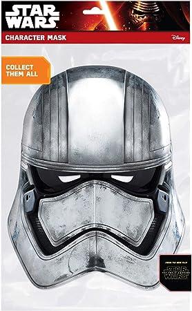 Star Wars - Careta de Capitán Phasma de cartón, talla única (Rubie's 32911)