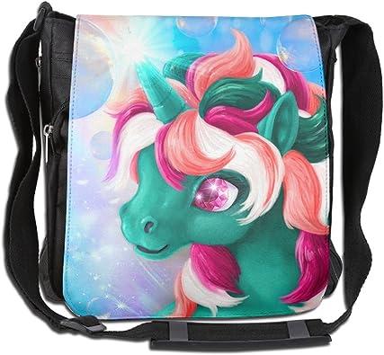 New Womens Lovely Unicorn Design Canvas Crossbody Messenger Handbag Shoulder Bag