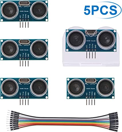 2pcs Ultrasonic Sensor Mounting Bracket for HC-SR04 Smart Car DP