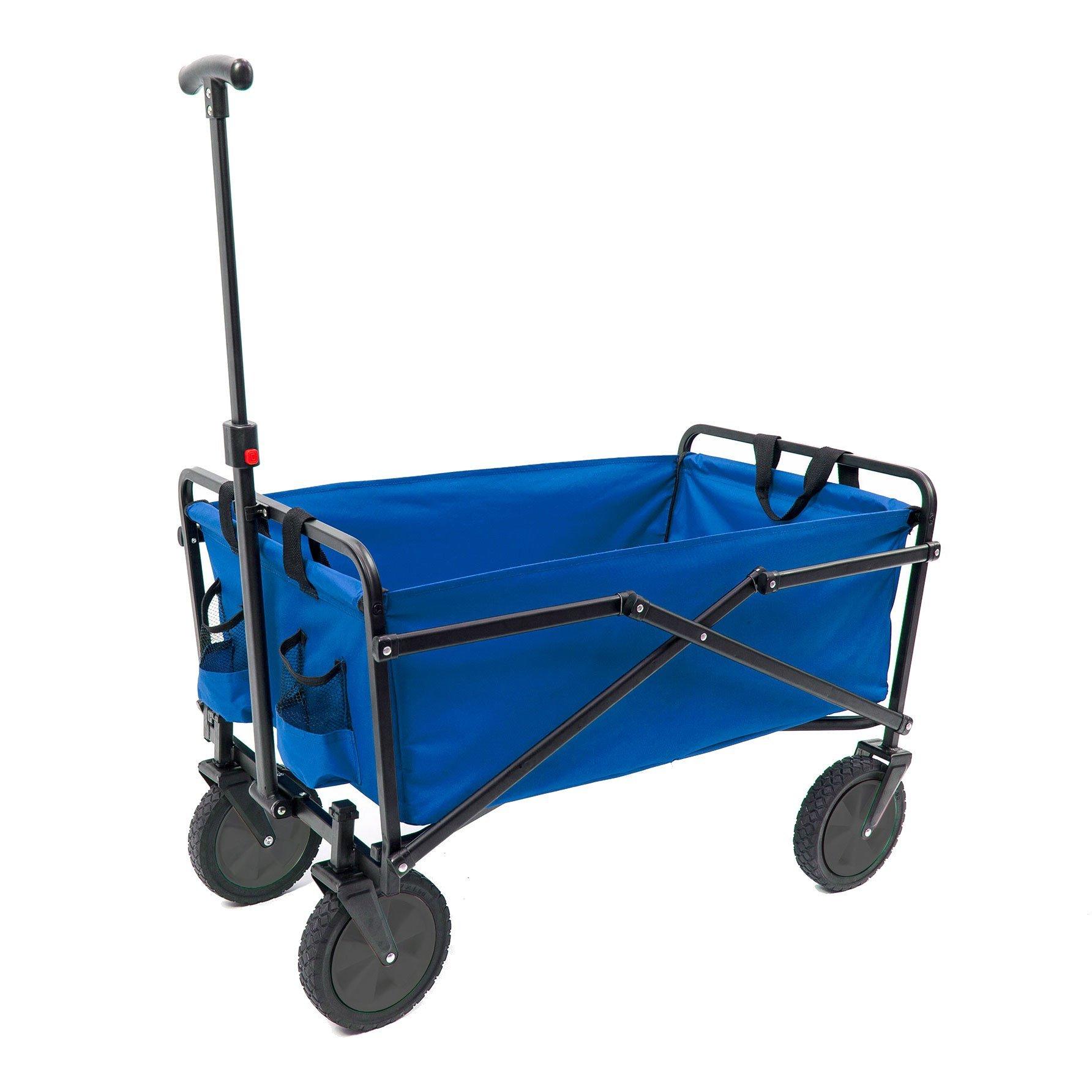 Seina Compact Folding 225-Pound Capacity Utility Cart, Blue