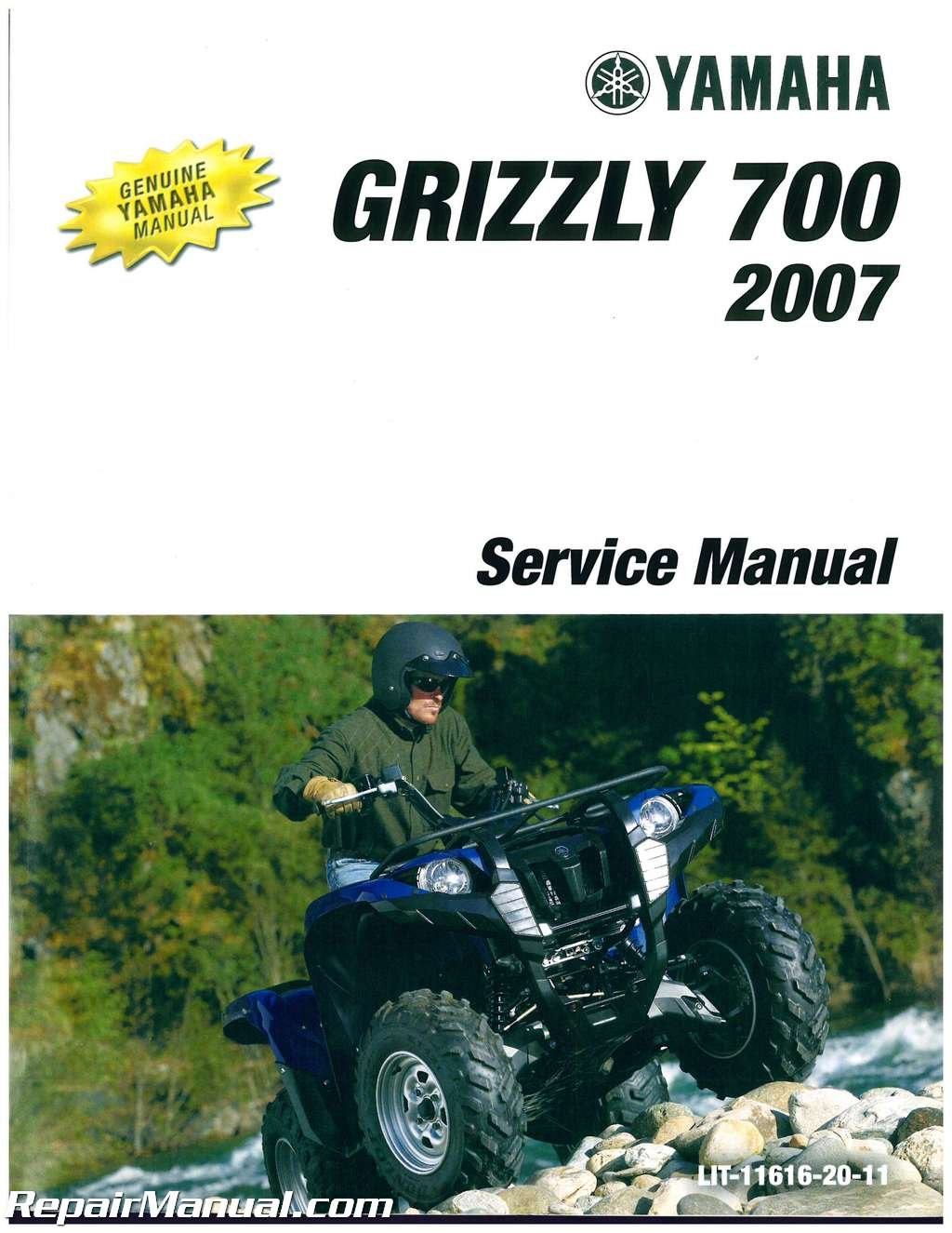 lit 11616 20 11 2007 yamaha yfm 700 grizzly service manual rh amazon com 2007 yamaha grizzly 700 owners manual pdf free 2007 yamaha grizzly 700 service manual