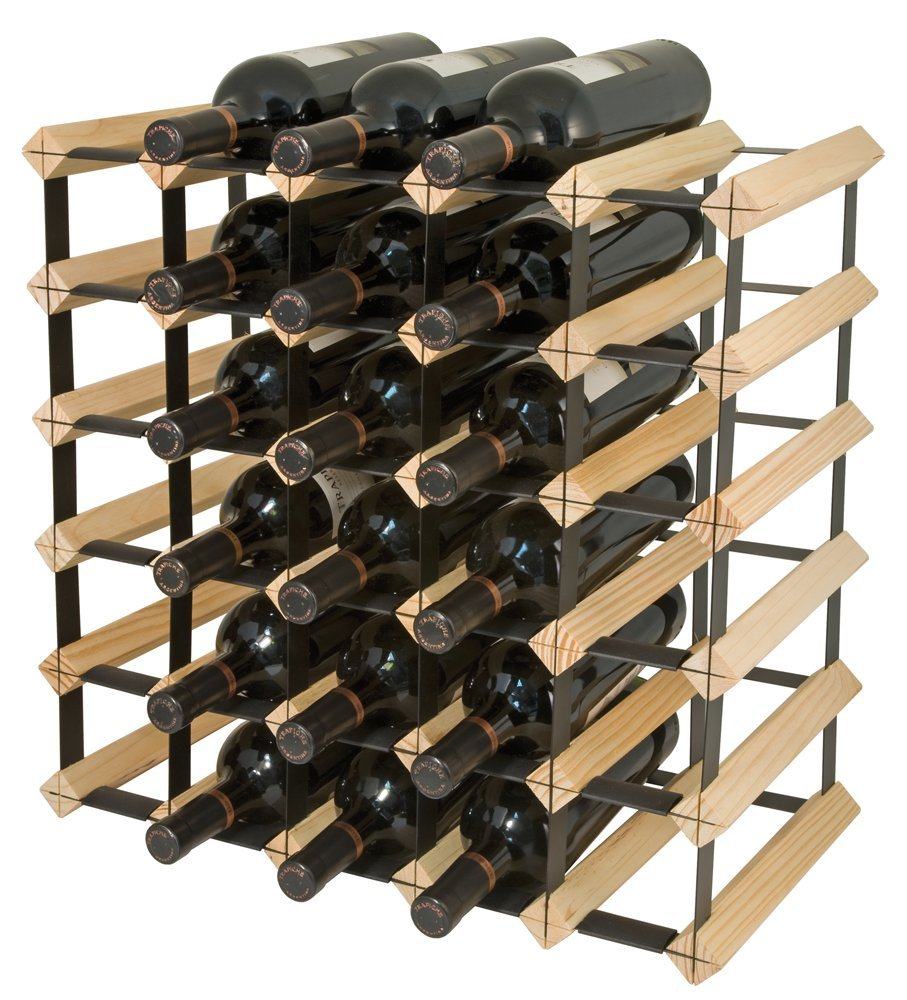 Final Touch 30 Bottle Wine Rack Natural Finish