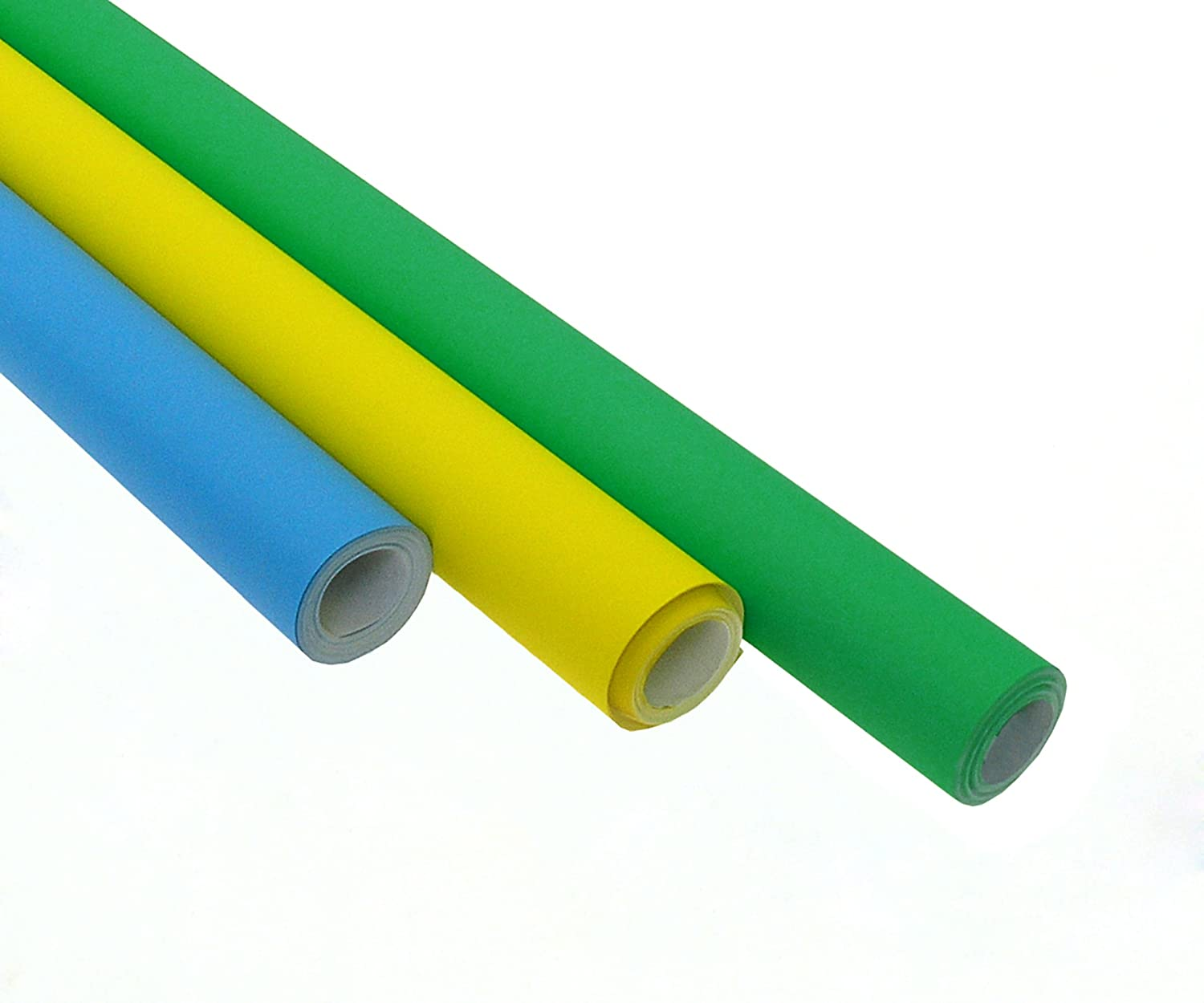 Poster paper assortment blue green and yellow 3 rolls of poster paper assortment blue green and yellow 3 rolls of vivid coloured poster paper each roll 760mm x 10m ideal for display schools classrooms jeuxipadfo Images
