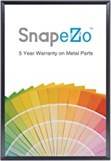 """SnapeZo Poster Frame 36x48 Inches, Black 1.7"""" Aluminum Profile, Front-Loading Snap Frame, Wall Mounting, Wide Series"""