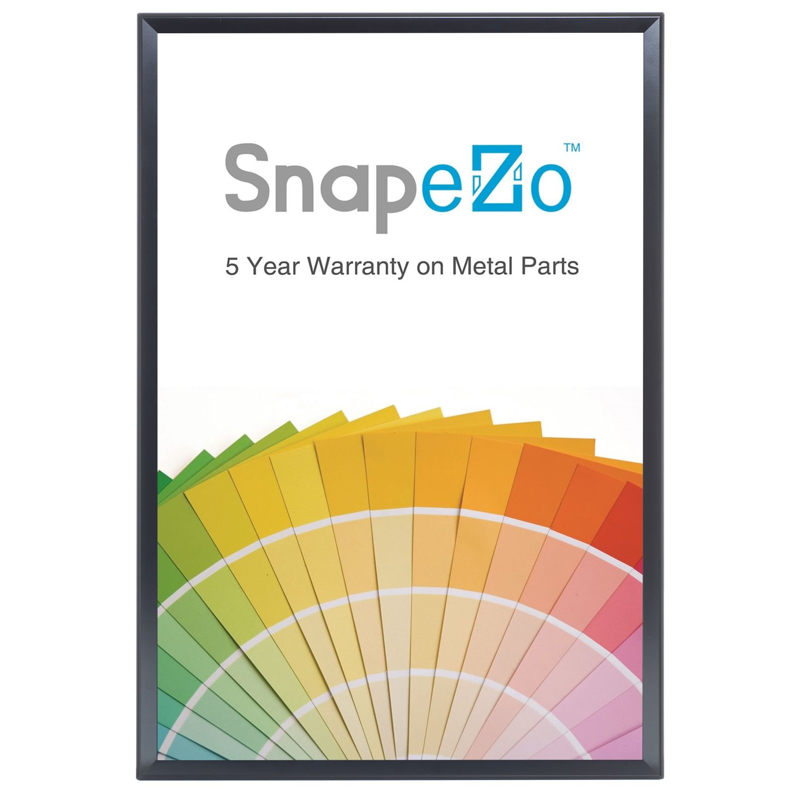 Black Snap Poster Frame 36x48 Inches, 1.7'' SnapeZo Profile, Front Loading Snap Display, Wall Mounted, Professional Series