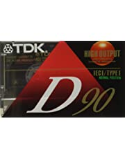TDK Audio Cassette, Standard Size, Normal Bias, 90 Minutes (45 x 2) (TDK20100) Category: Digital Voice Recorders and Accessories
