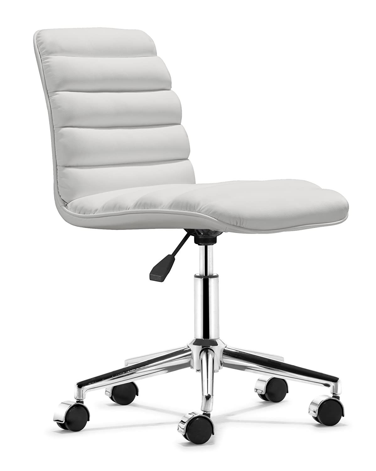 Modern ergonomic office chairs - Amazoncom Zuo Modern Admire Office Chair White Kitchen Dining