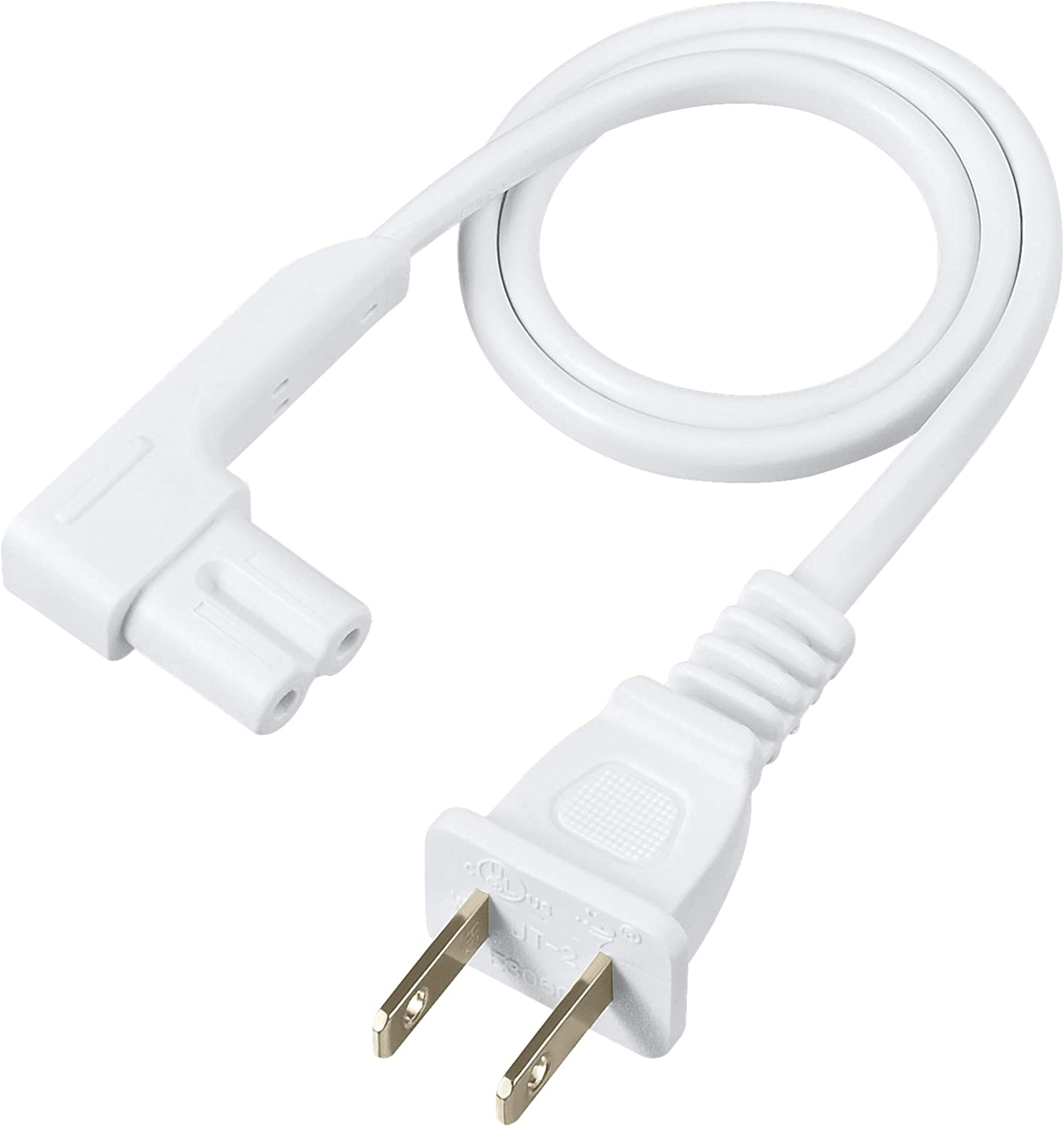 Compatible with Sonos Play One Power Cable Cord Extra Long, White Sonos Play-1 and Sonos One SL Speaker Vebner 16ft 2-Pack Power Cord Compatible with Sonos Play One