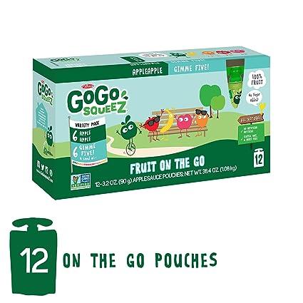 GoGo squeeZ salsa de manzana sobre la marcha, paquete ...