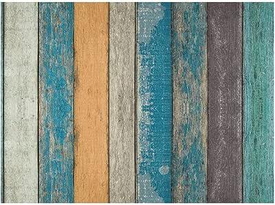 Fondo de Pantalla, Equipo de música PVC Simulación de Madera Retro del Grano Autoadhesivo Impermeable a Prueba de Humedad Anti-Aceite de decoración del Papel Pintado 10m, 2 Tamaños Uso en Interiores: Amazon.es: