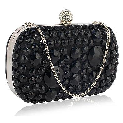 7a46f3307941 Beaded Clutch Bag Sparkly Stone Hard Case Box Handbag Party Evening Wedding  Purse  Amazon.co.uk  Shoes   Bags