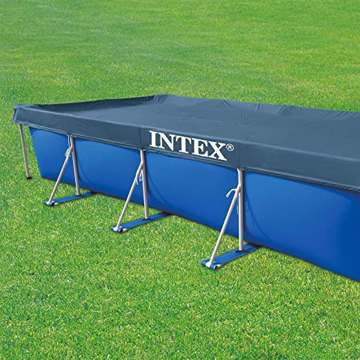 Intex 28039 - Cobertor piscina rectangular Prisma/small frame 460 ...