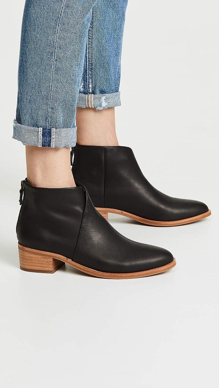 Soludos Damen Venetian Bootie modischer Stiefel Schwarzes Leder