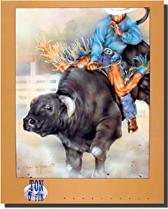 Western Cowboy Rodeo Bull Riding Picture Wall Decor Art Print Poster (16x20)