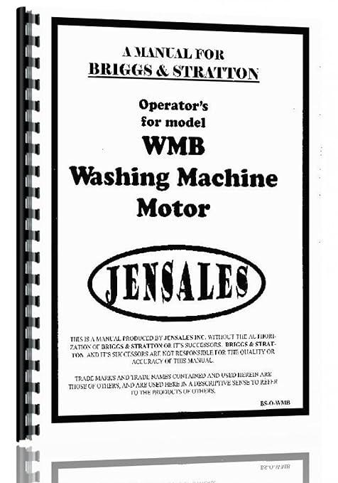 Amazon.com: Briggs y Stratton WMB Manual de operadores para ...