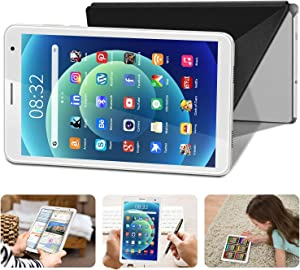 Tablet 8 Pulgadas Android 10 IPS Ultrar-Rápido Tablets HD 1280 * 800 Quad Core 3GB RAM 32GB/128GB ROM WiFi GPS 5000mAh Bluetooth 4.2-Certificación Google GMS (Blanco)