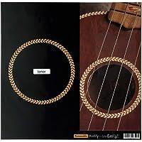 Inlay Sticker for Tenor Ukuleles - Soundhole Rosette/Purfling - Herringbone,UKR-280H-T