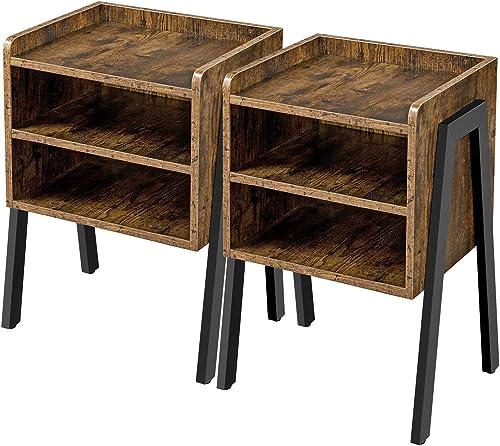 YAHEETECH Set of 2 Nightstand Table