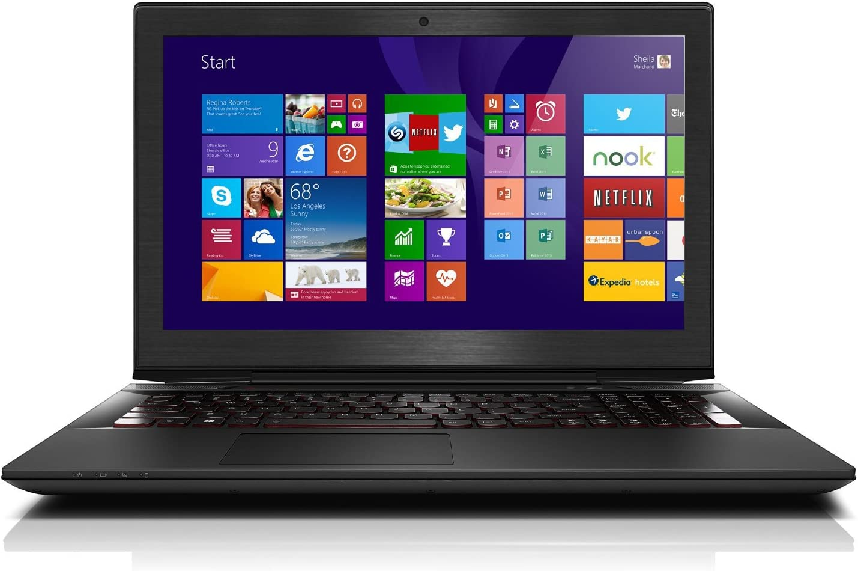 "Black Brushed Aluminum Skin Decal wrap Skin case for Lenovo Y50 15.6"" Laptop"
