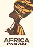 Vintage Travel AFRICA with PAN AM AIRWAYS 250gsm Gloss Art Card A3 Reproduction Poster