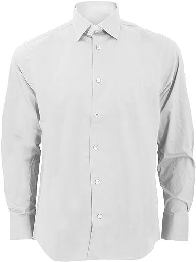 Russel Collection - Camisa Ajustada de Manga Larga Cuidado facil Modelo Fitted Hombre Caballero - Trabajo/Boda/Fiesta: Amazon.es: Ropa y accesorios