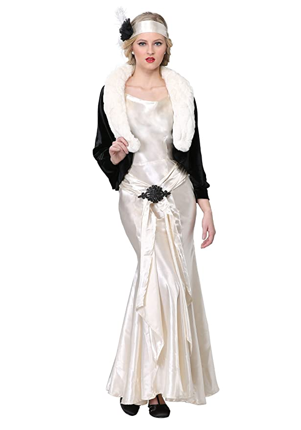 1930s Costumes- Bride of Frankenstein, Betty Boop, Olive Oyl, Bonnie & Clyde 1920s Socialite Plus Size Womens Costume $54.99 AT vintagedancer.com