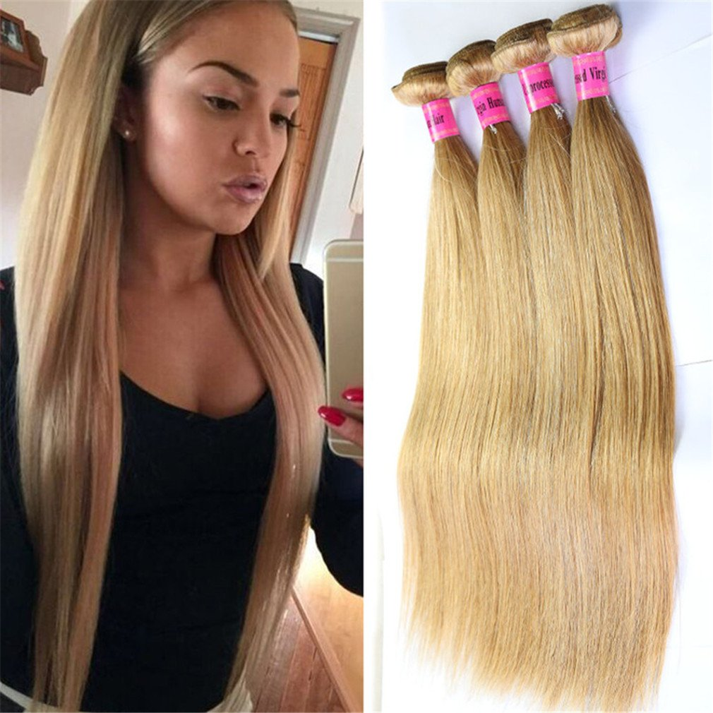 Amazon 613 Blonde Human Hair Extensions Body Wave Blonde Hair