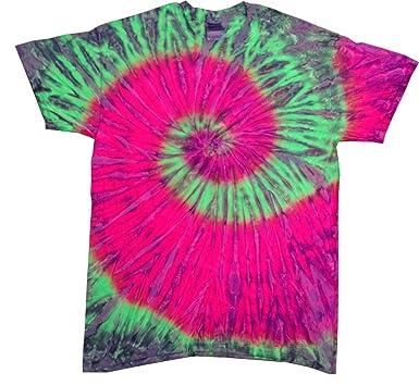 Amazon.com: Buy Cool Shirts Mens Tie Dye Shirt Green Pink ...