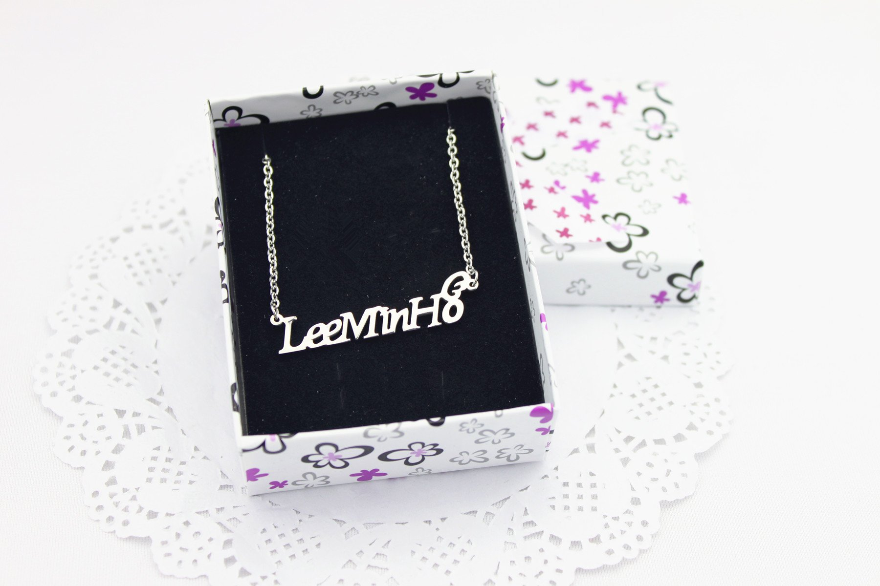 Fanstown Lee Minho Birthday Collection Accessories Ring with Necklace Chain