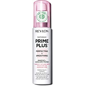 Revlon PhotoReady Prime Plus Primer, Perfecting and Smoothing Skincare Makeup with Vitamin B5 and Hyaluronic Acid, 1 oz