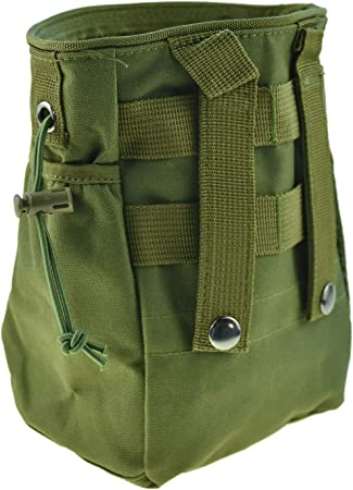 CREATRILL Tactical Molle Drawstring Magazine Dump Pouch, Military Adjustable Belt Utility Fanny Hip Holster Bag Outdoor Ammo Pouch