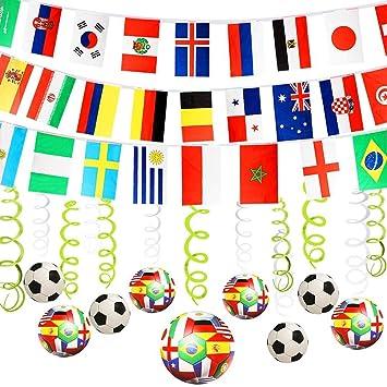 30 Decoración de Fútbol Artículos Decorativos para Colgar ...