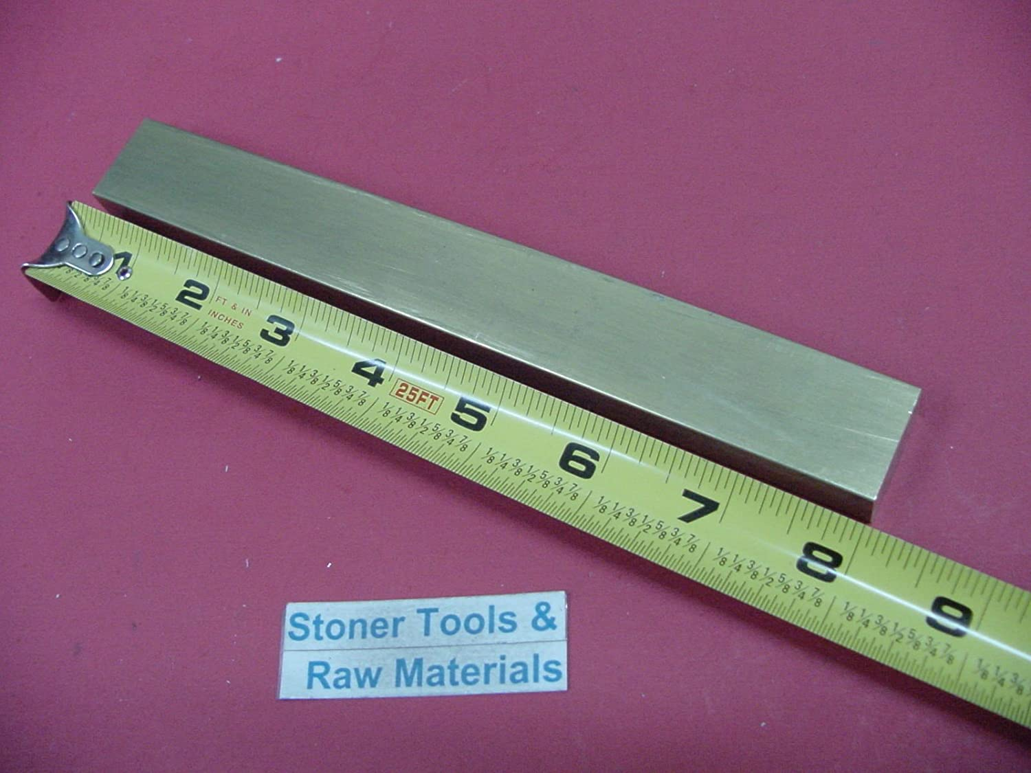 "USA 1//8/"" x 2/"" C360 BRASS FLAT BAR 12/"" long Solid .125/"" Plate Mill Stock H02"