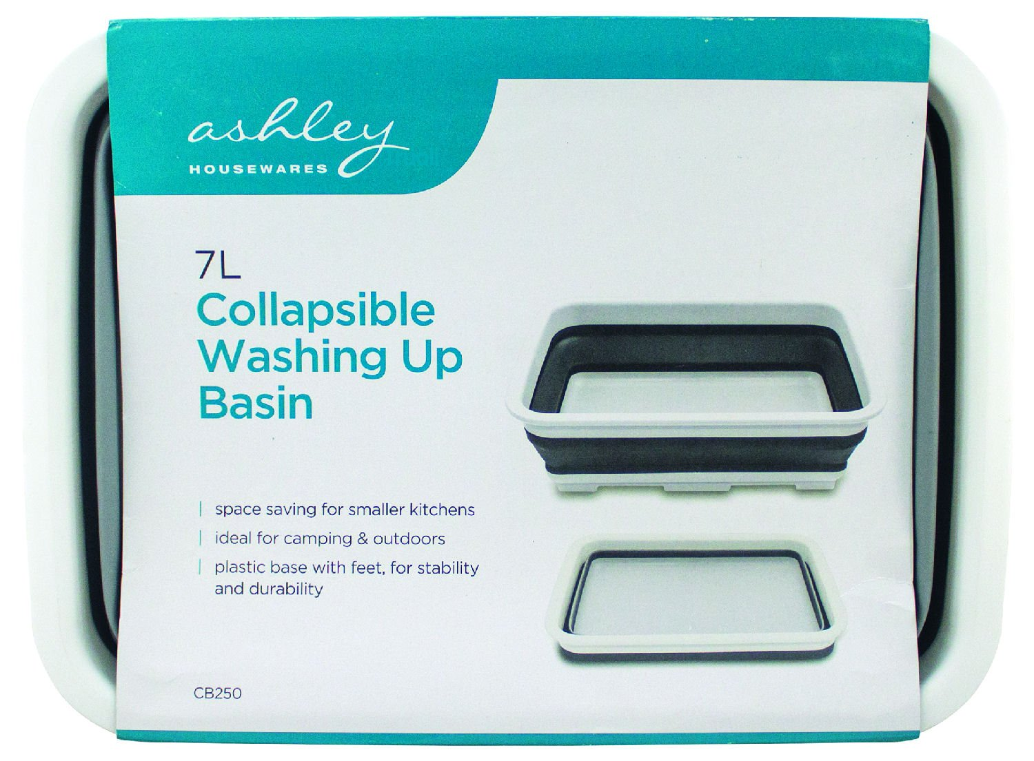 7L Collapsible Washing Basin Space Saver Folding Pop Up Bowl Ashley Housewares
