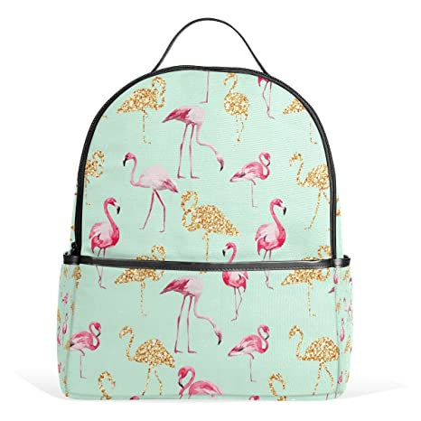 COOSUN Patrón flamenco mochilas escolares mochilas para Niños Niñas Adolescentes Niños Medio Multicolor
