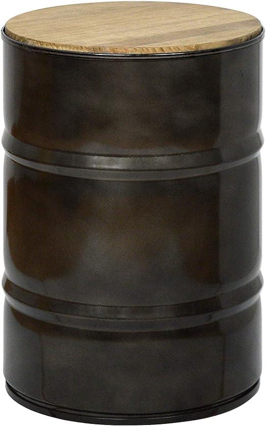 Tabouret Bas Bidon Industriel Metal 31 Dia X 45 Cm Amazon
