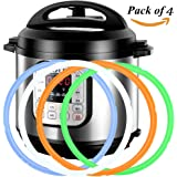 Silicone rings for Instant Pot - 4 Different Colors for Different Dishes - SWEET and SAVORY Edition for 5 qt and 6 qt IP models Instant Pot Models Seal BPA-free - Instant Pot Ring Instant Pot Seal
