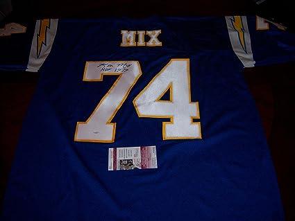 6301d015f95 Image Unavailable. Image not available for. Color  Ron Mix Autographed  Jersey - Chargers usc Trojans hof coa - JSA Certified - Autographed NFL