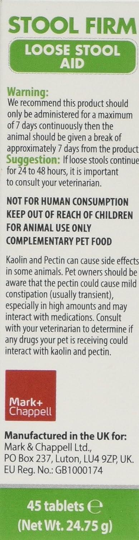 VetIQ Stool Firm Antidiarreico Perro 45 Comprimidos contra diarrea: Amazon.es: Productos para mascotas