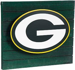 Team Sports America Green Bay Packers LED Metal Wall Art