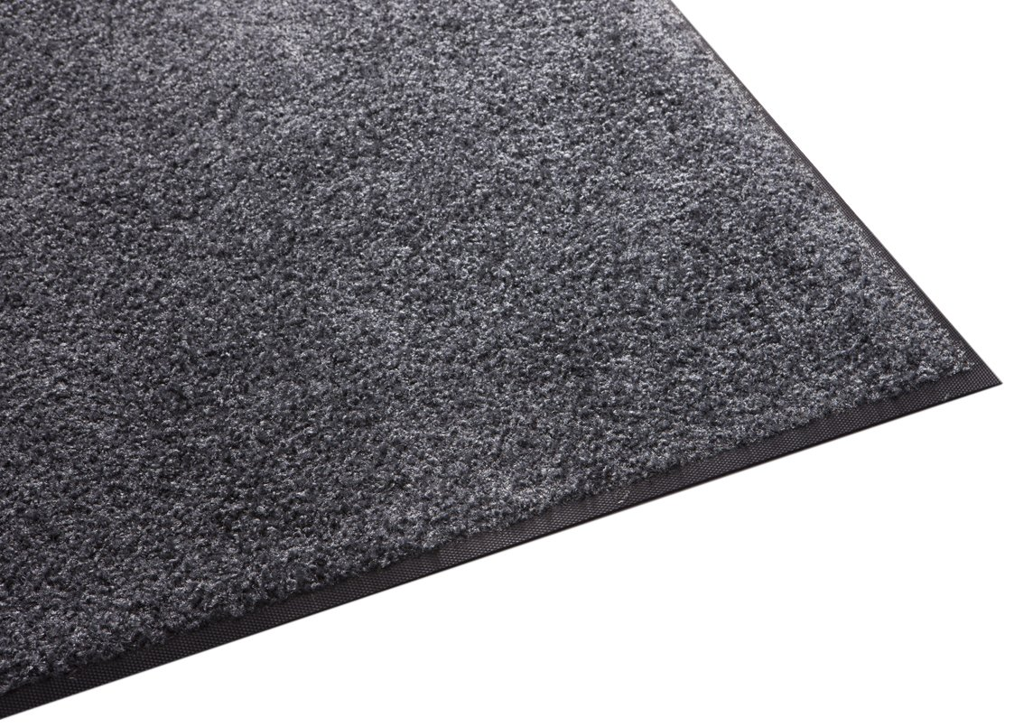 Guardian Platinum Series Indoor Wiper Floor Mat, Rubber with Nylon Carpet, 6'x7', Grey