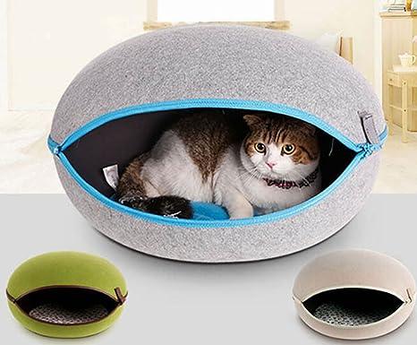 LA VIE Casa Oval Extraíble para Mascotas Cueva Hideout para Gato Cesta Cama Nido Acogedor para