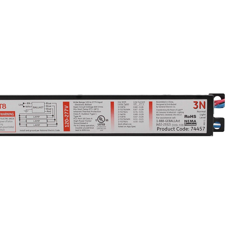 GE GE-332-MV-N-42T 74457 Electronic Ballast 120//277V F32T8 32W T8 3-Lamp
