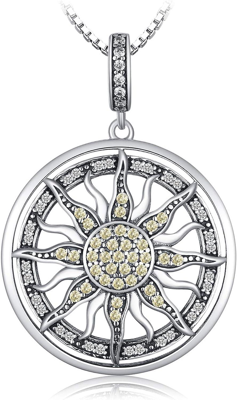 JewelryPalace Colgante Zirconia cúbica Gran sol celestial círculo Plata de ley 925