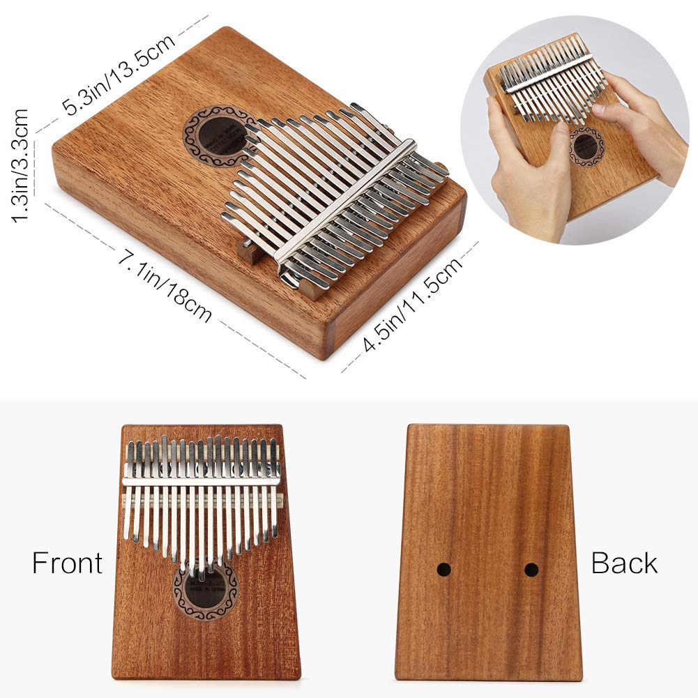 CH-UKLE12 Lujex 17 Keys Kalimba Thumb Mbira Finger Piano Pocket Size for Beginners and Children