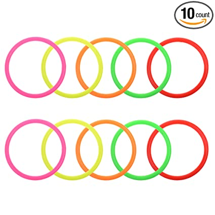 Amazon.com : Cosmos 10 pcs Small Size Plastic Toss Rings for Speed ...
