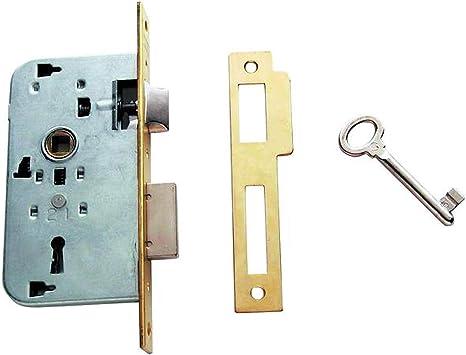 Tesa Assa Abloy, 200240HL Cerradura de embutir para puertas de madera, Entrada 40mm, Latonado: Amazon.es: Bricolaje y herramientas